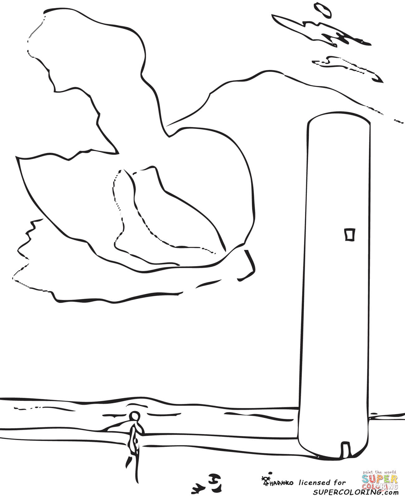 1300x1599 The Tower By Salvador Dali Coloring Page Free Printable Coloring