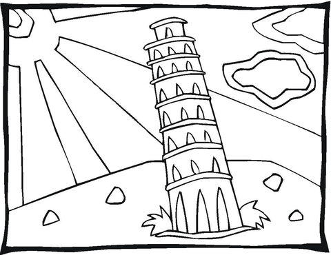 480x370 Tower In Pisa Coloring Page Free Printable Coloring Pages