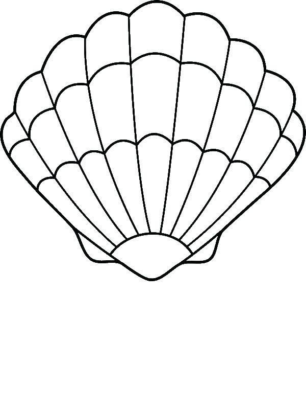 600x800 Holiday Coloring Pages Seashell Page Drawings Tattoos Clam Shells