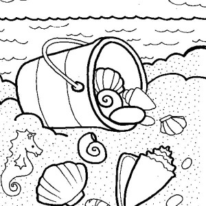 300x300 Sea Shells Coloring Page Free Download