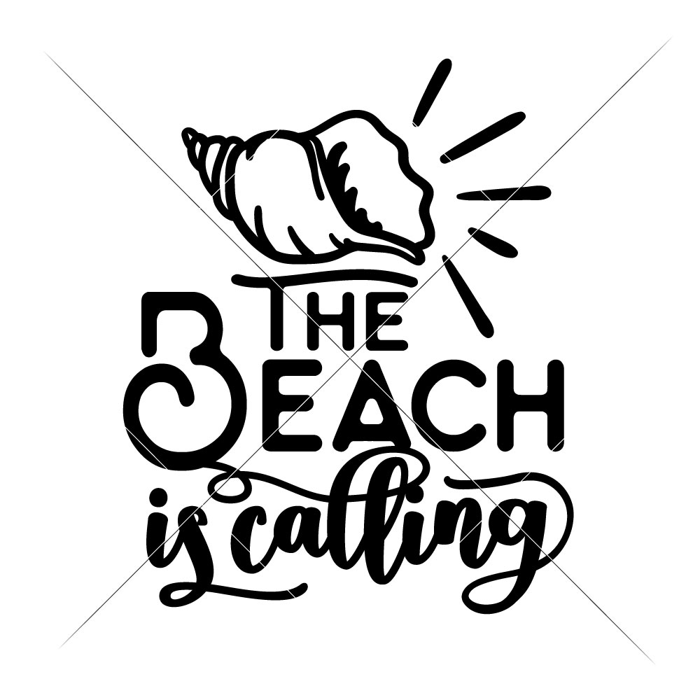 1000x1000 The Beach Is Calling With Seashell