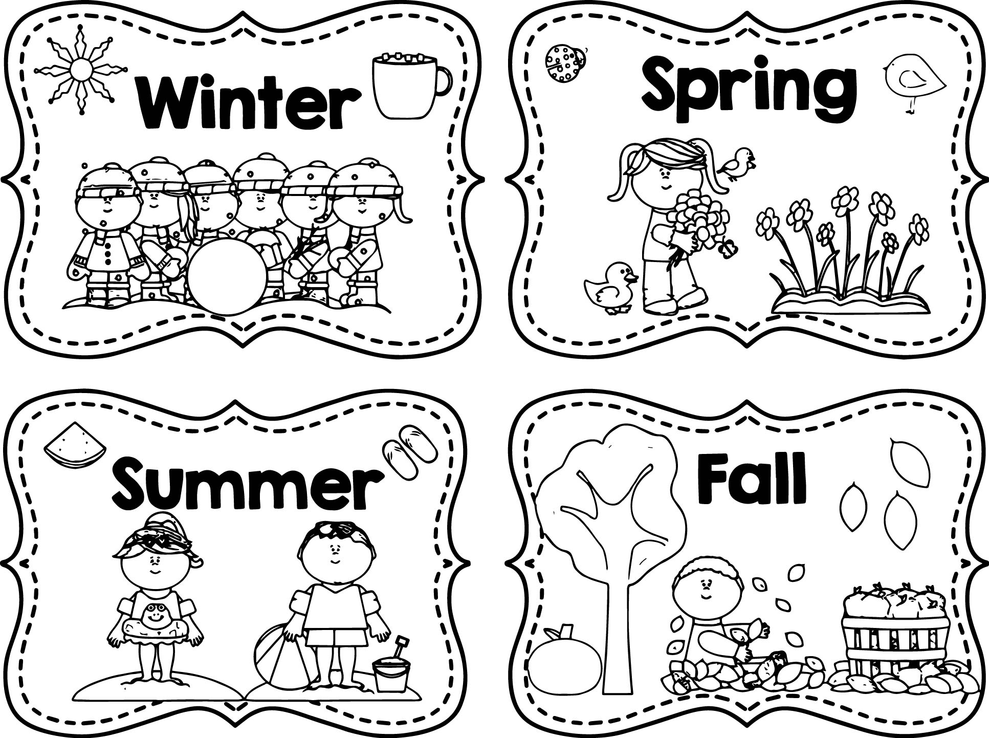 1933x1442 Seasons Coloring Page Rainbow Kids Pages Of For Adults Free
