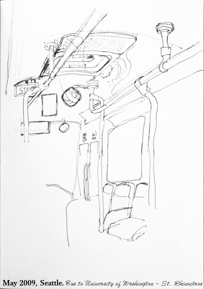 408x576 I Just Ran Across This Sketch I Did On A Bus In Seattle, Years Ago