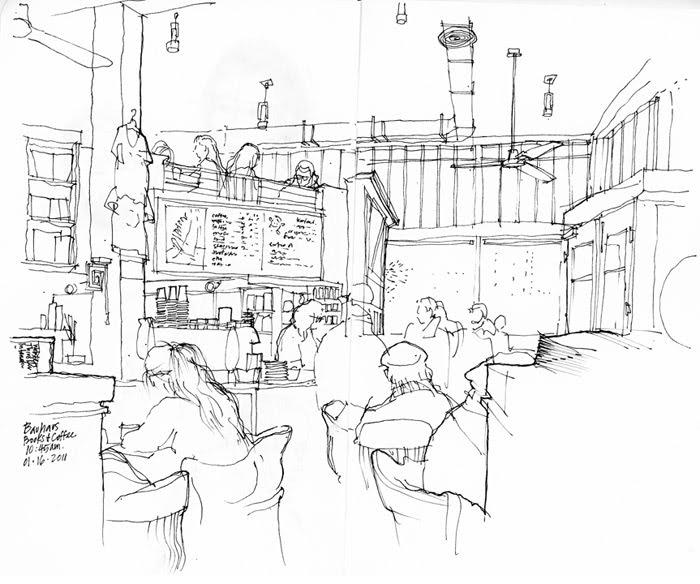 700x584 Urban Sketchers Seattle Bauhaus Coffee