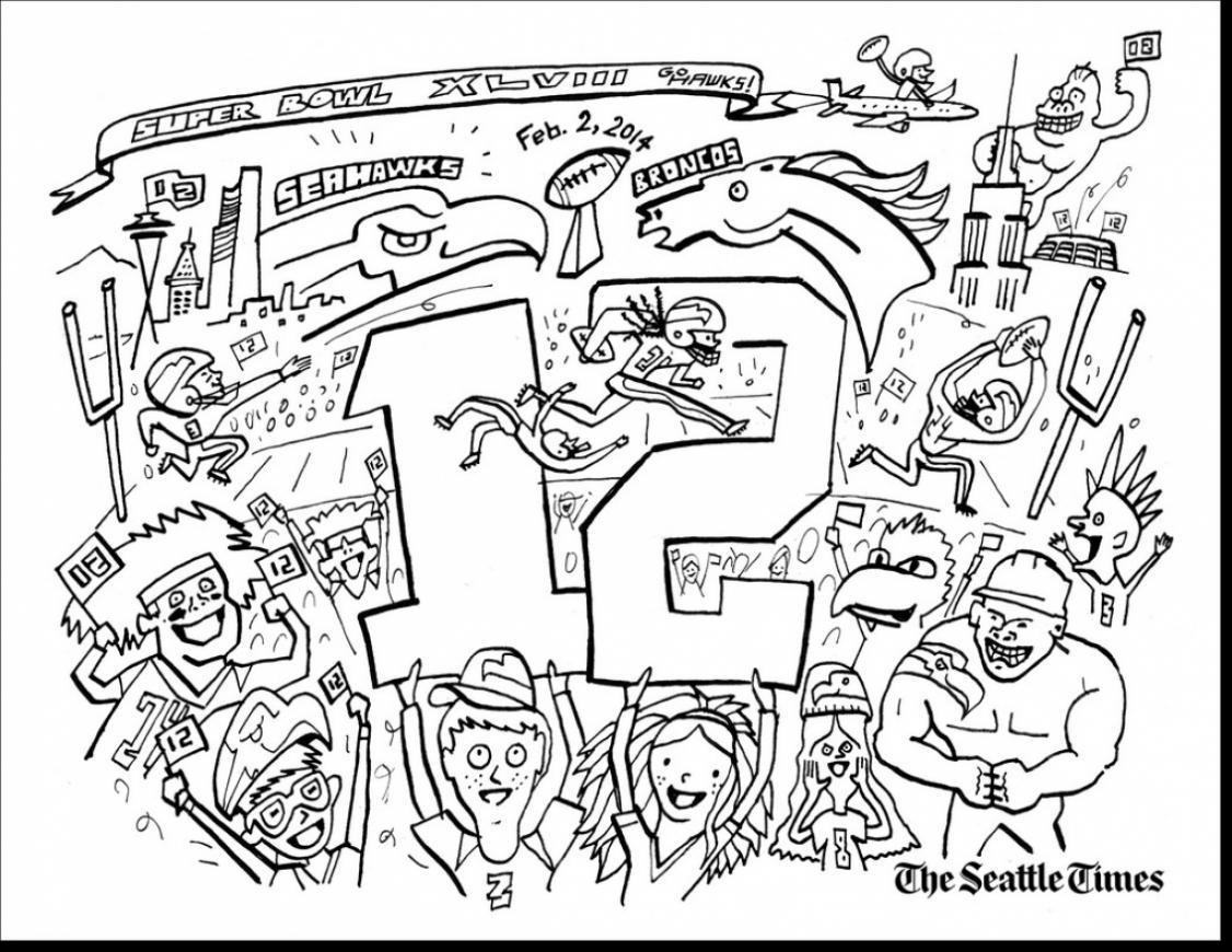 1126x870 Seattle Seahawk Coloring Pages Coloring Page For Kids
