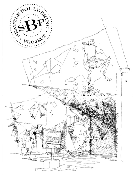 534x700 Urban Sketchers Seattle Revisiting The Seattle Bouldering Project