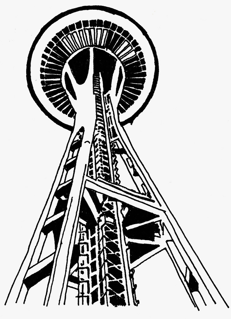 741x1024 All Sizes Space Needle