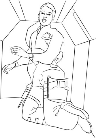 333x480 Dr. Mae C. Jemison In Space Coloring Page Free Printable
