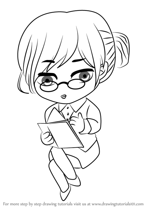 567x800 Learn How To Draw Secretary Guest From Mystic Messenger (Mystic