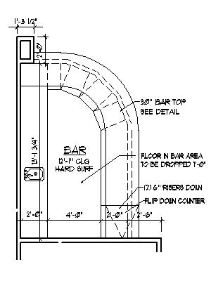 300x400 Home Bar Plans Design Blueprints Drawings Back Bar Counter Section