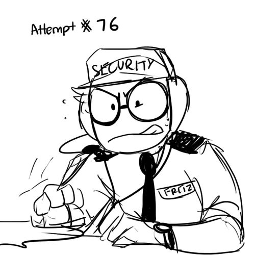 Security Guard Drawing