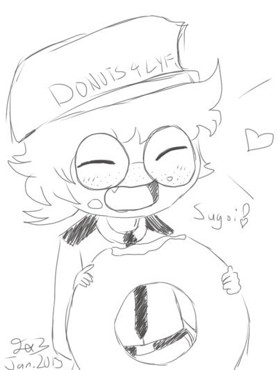 400x533 Fnafsecurity Guardfritz Eating Doughnuts By Triple Jayssie