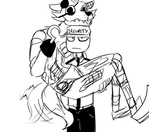 500x442 Mike The Security Guard Is Holding Foxy Like A Puppy Part 1