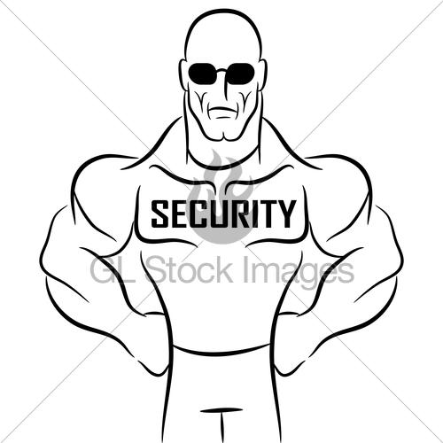 500x500 Security Guard Cartoon Gl Stock Images
