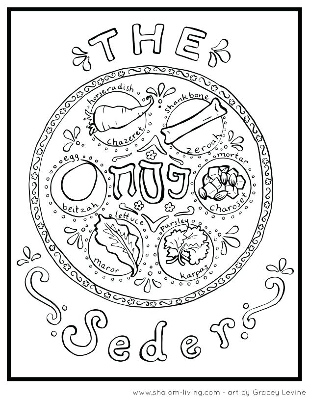 630x815 Passover Coloring Honor By Coloring This Sacred Plate Passover