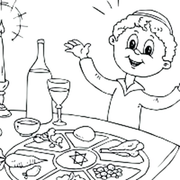 600x600 Seder Coloring Pages Back To Post Passover Plate Coloring Page
