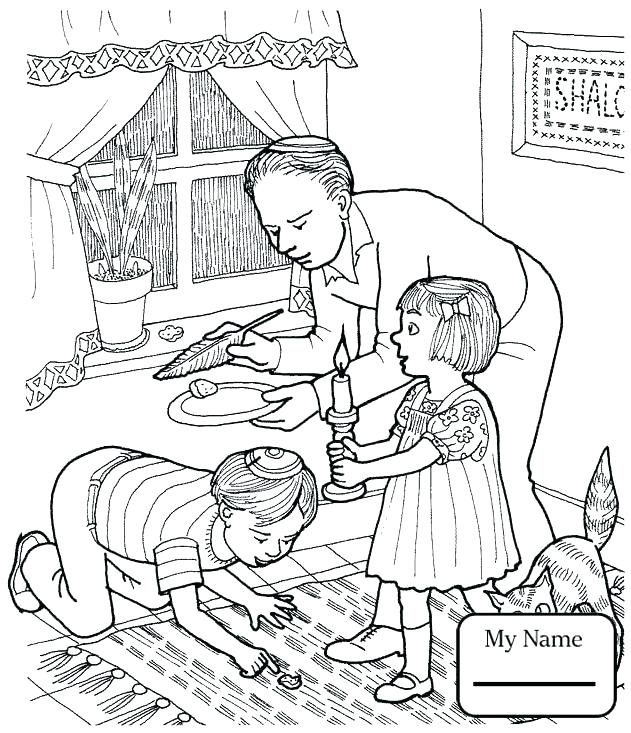 631x733 Seder Coloring Pages On Color The Seder Plate Worksh