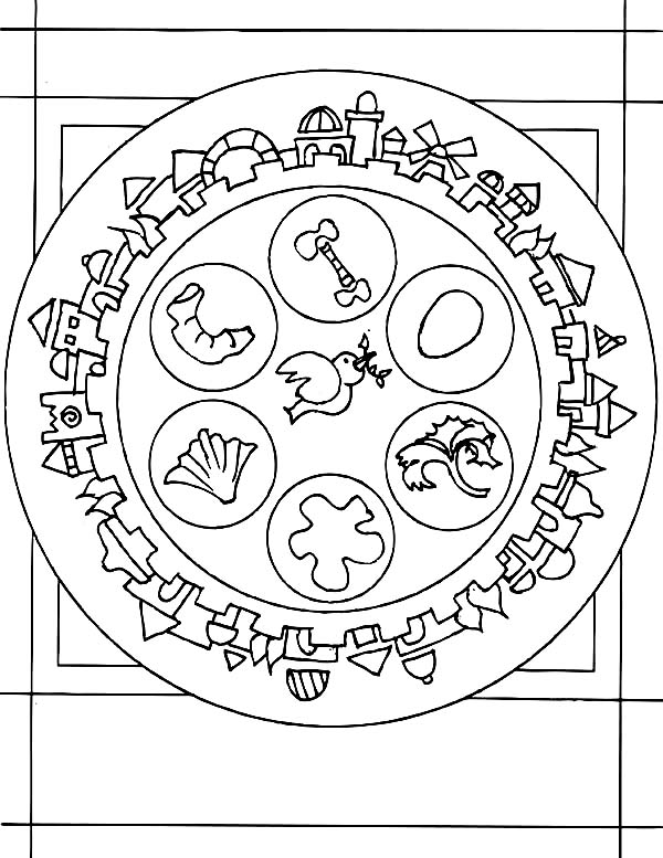 600x777 happy passover coloring pages
