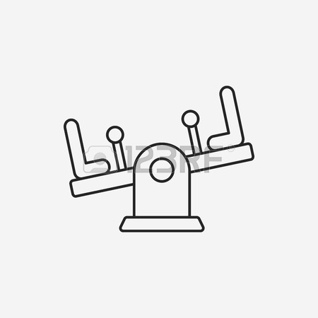 450x450 Playground Seesaw Line Icon Royalty Free Cliparts, Vectors,