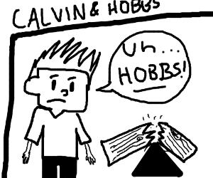 300x250 Calvin (Calvin And Hobbes) Wrecks Seesaw