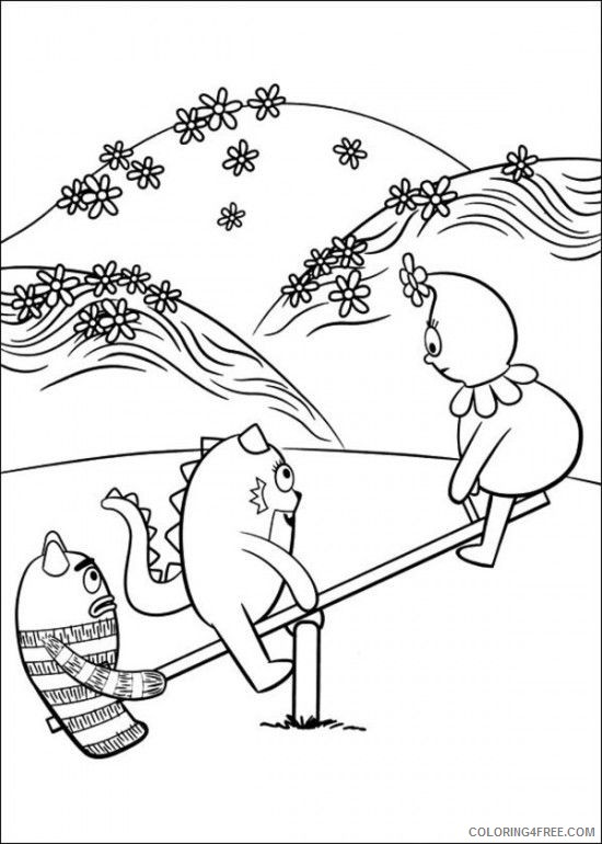 550x770 Yo Gabba Gabba Coloring Pages Playing Seesaw Coloring4free
