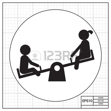 450x450 Children On Seesaw Royalty Free Cliparts, Vectors, And Stock