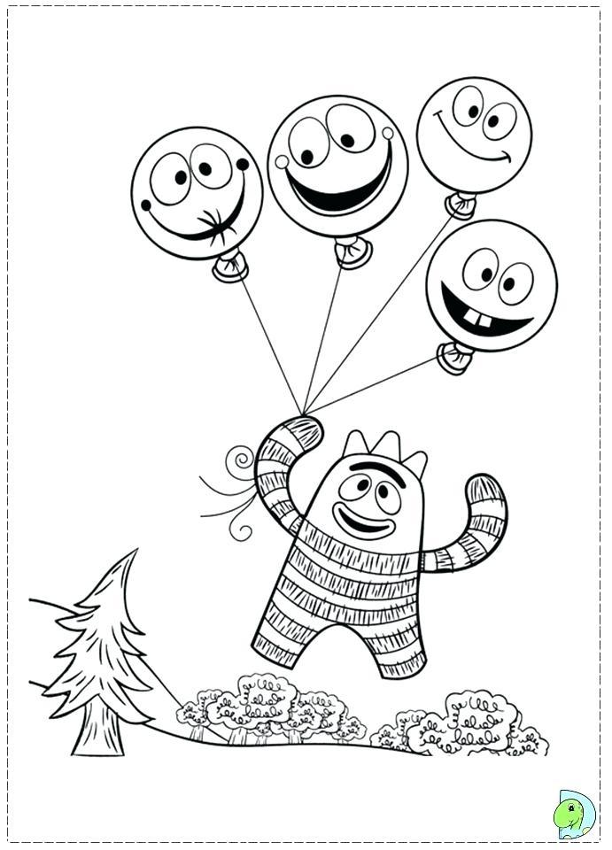691x960 Epic Yo Gabba Coloring Pages Free Printable Image Playing Seesaw