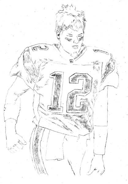 418x600 How To Draw Tom Brady Let's Draw People