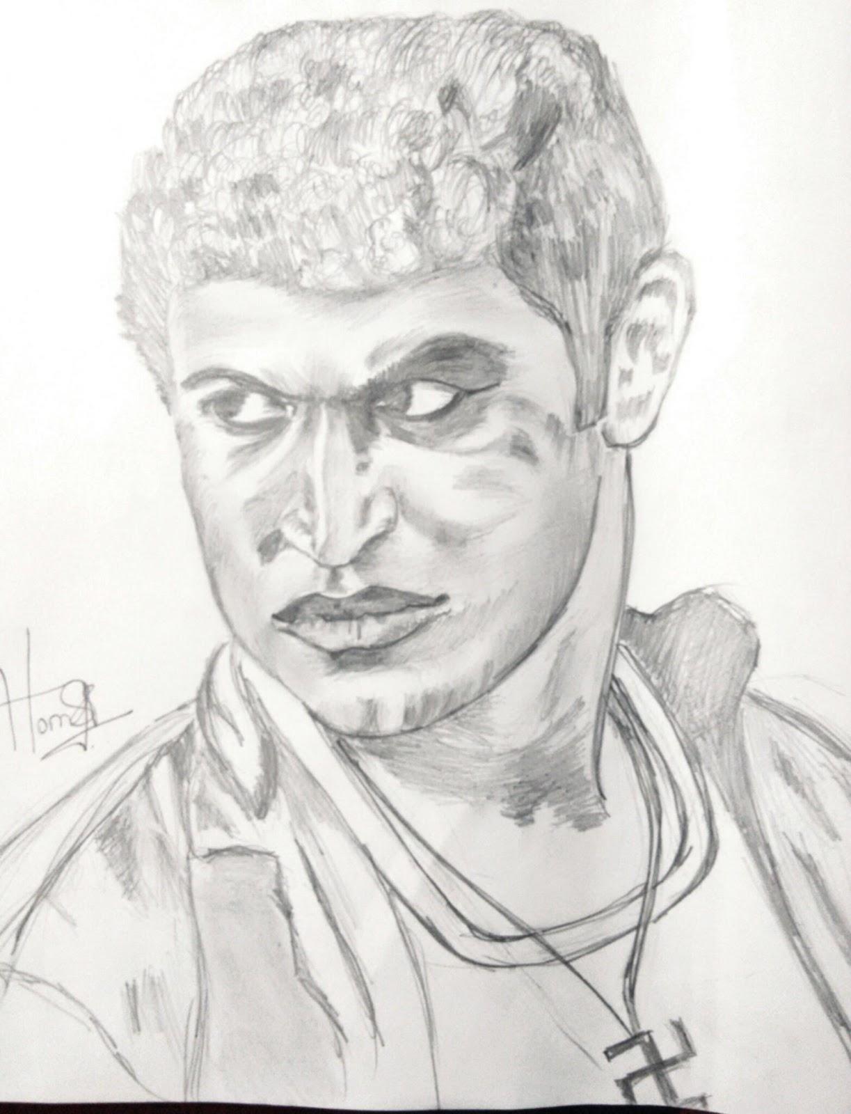1223x1600 Face Drawings