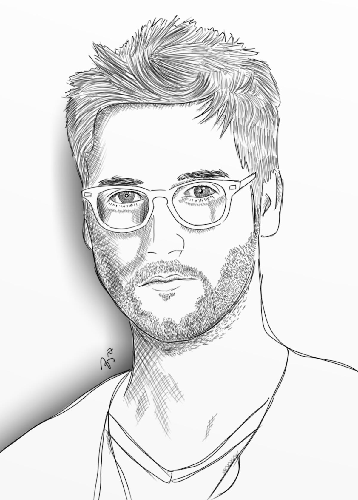 1200x1676 Drawing Sketch Portrait Blackandwhite Ryaneggold