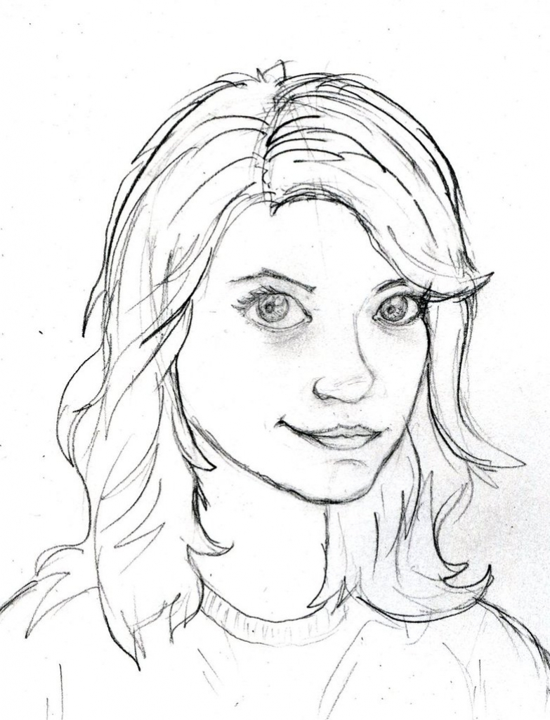 783x1024 Cartoon Portrait Drawing