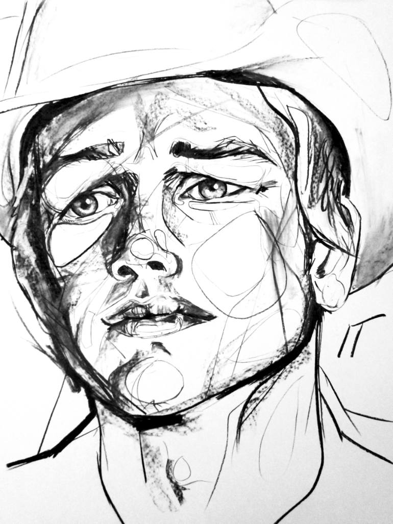 770x1027 Saatchi Art Cowboy Drawing By Isabella Timothy