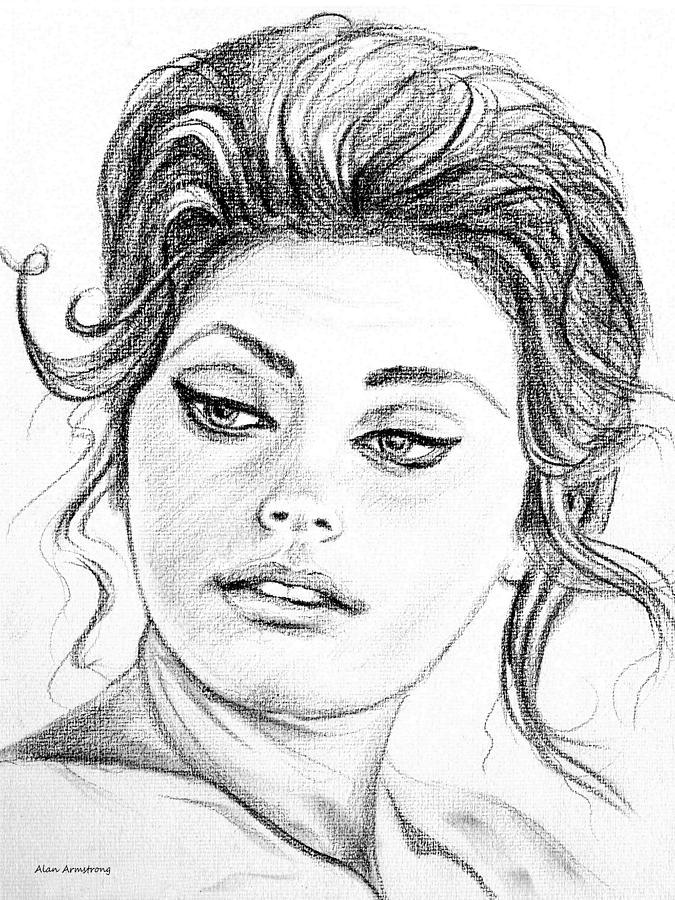 675x900 Sophia Loren Drawings Fine Art America