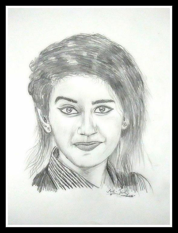 589x768 Filepriya Prakash Varrier's Pencil Drawing.jpg
