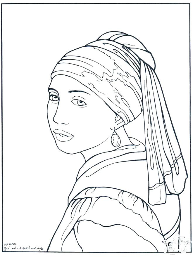 660x880 New Self Portrait Coloring Page For Self Portrait Coloring Page