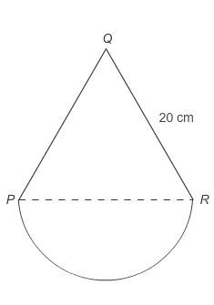 235x335 Figure Pqr Is An Equilateral Triangle With A Semicircle Added