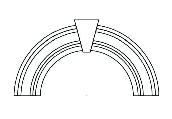 597x415 Semi Circle Arch Detail Architectural Foam Flowers Group