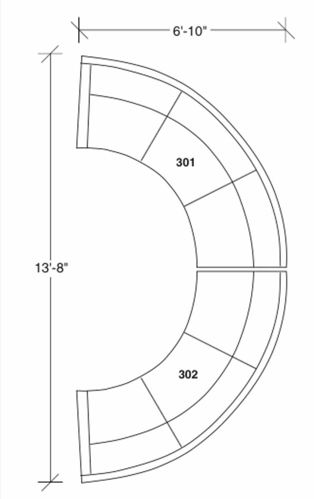1011x1604 Sofa Curved Circular Sofa Dimensions Drawing Sectional