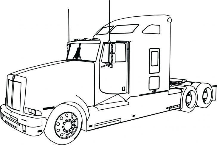 728x488 Semi Truck Coloring Pages Grave Digger Monster Printable Amazing
