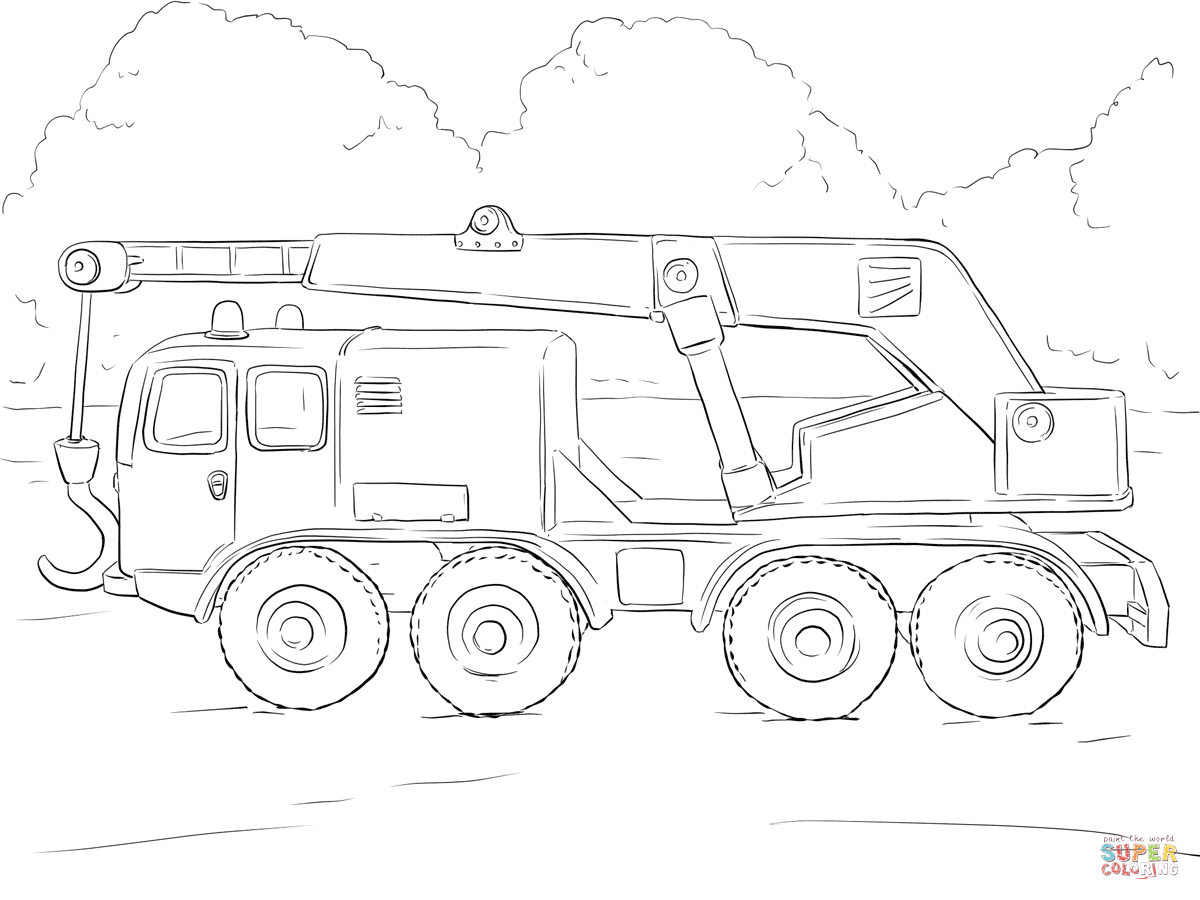 1200x900 Superb Crane Truck Coloring Pages Printable With Semi Truck