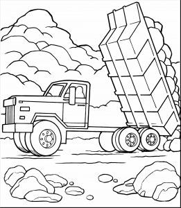 261x300 Awesome Semi Trucks Coloring Pages