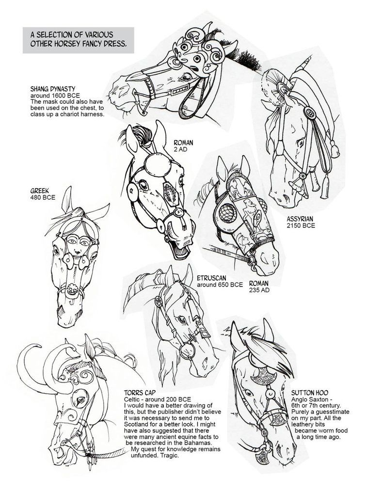 786x1017 Historic Horse Head Gear Part 2 By Sketcherjak On How
