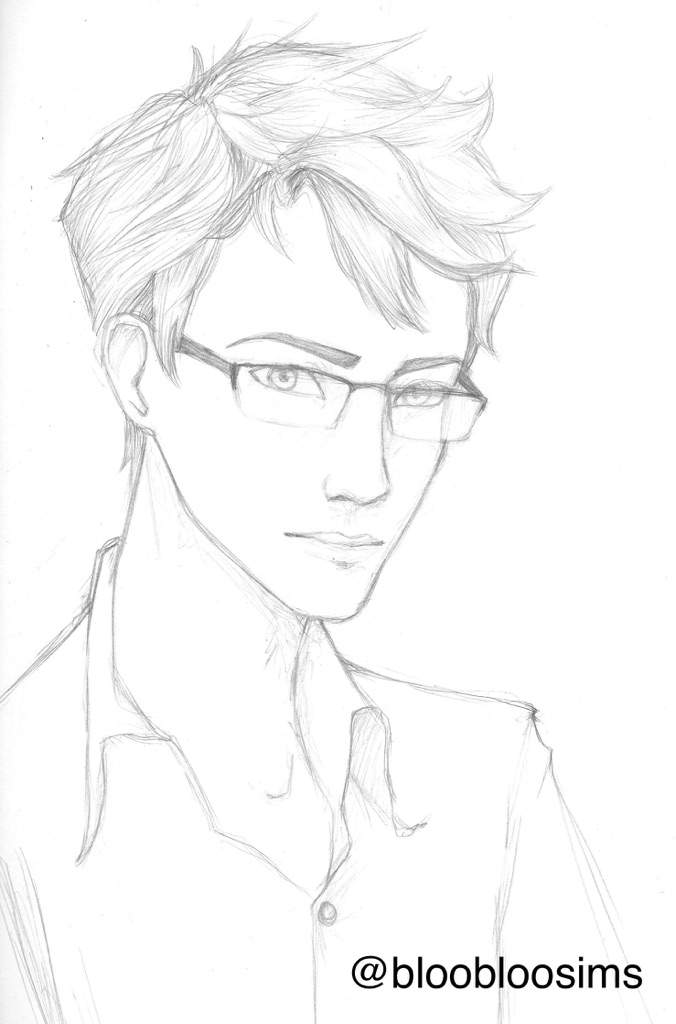 676x1024 Kaito In A Semi Realistic Sketch Infatuation By Maskcover Amino