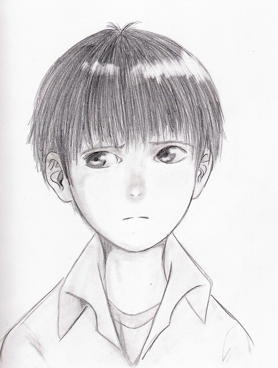 552x730 Semi Realistic Shinji Ikari By Yeseg92