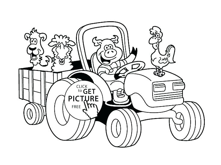 736x552 Best Tractor Trailer Coloring Pages Print Page Click To See