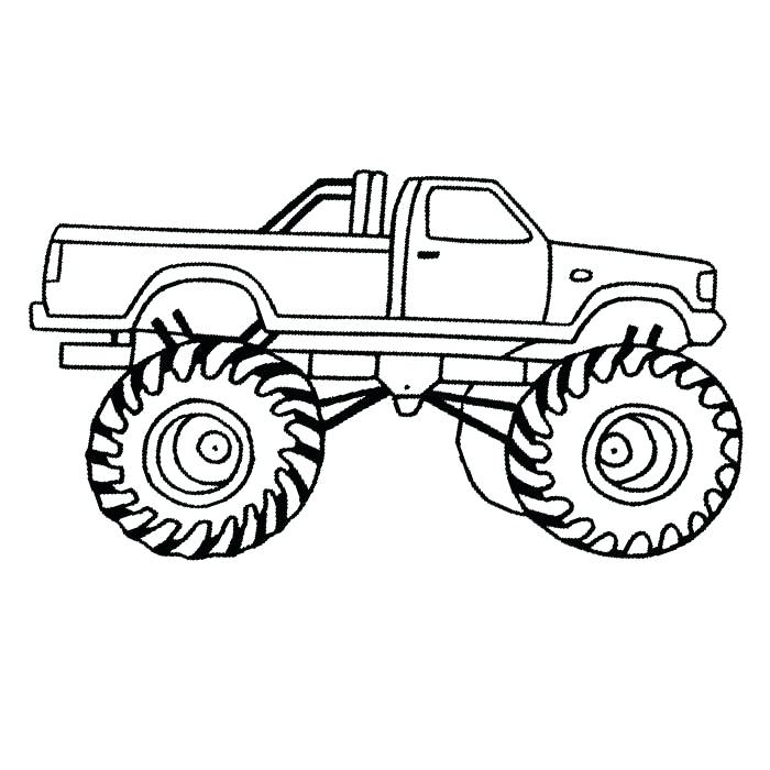 700x700 Truck And Trailer Coloring Pages Plus Monster Truck Coloring Pages