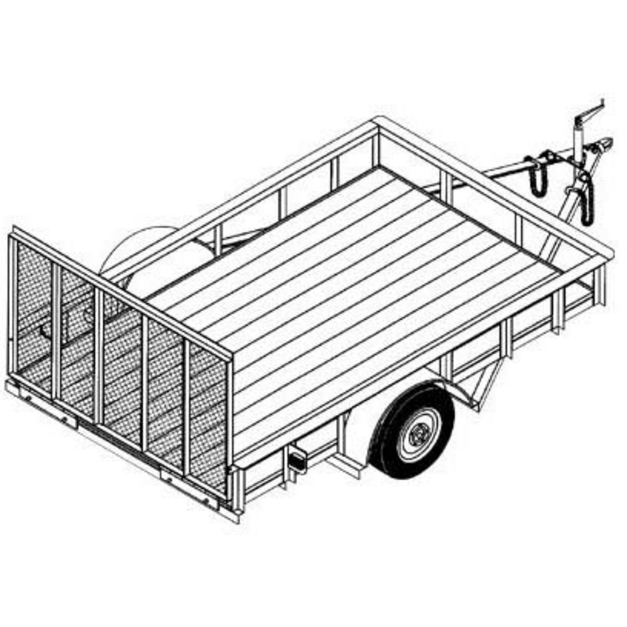 2000x2000 Utility Trailer Blueprints Northern Tool + Equipment