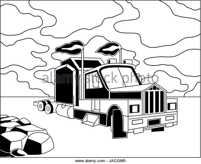 640x523 Vector Cartoon Cargo Semi Truck Stock Photos Amp Vector Cartoon