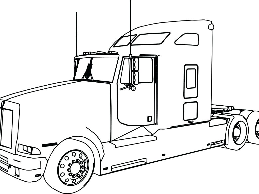 1024x768 Coloring Tractor Trailer Coloring Pages