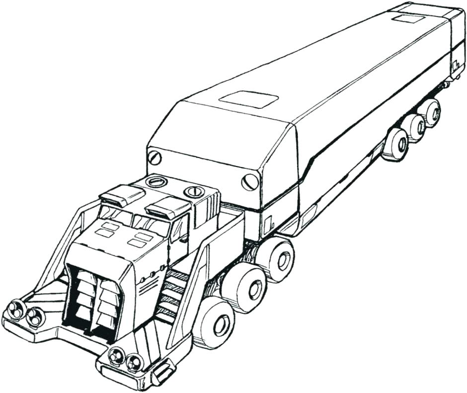 Semi Trailer Drawing At Getdrawings Com